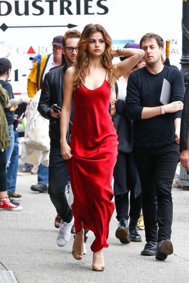 selena gomez slip dress