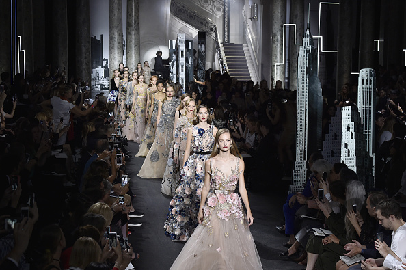 PARIS, FRANCE – JULY 06:  Models walk the runway during the Elie Saab Haute Couture Fall/Winter 2016-2017 show as part of Paris Fashion Week on July 6, 2016 in Paris, France.  (Photo by Kristy Sparow/Getty Images)
