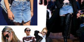 De olho na tendência '00, a volta da sainha jeans da década passada!