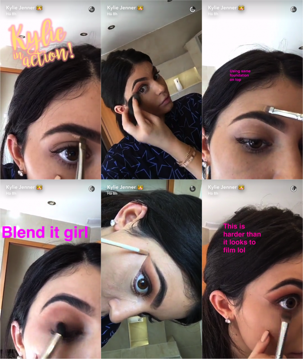 tutorial makeup kylie jenner