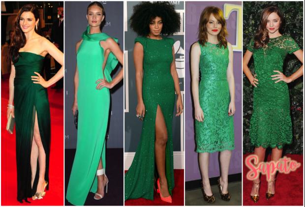 Vestido verde qual cor de sapato combina