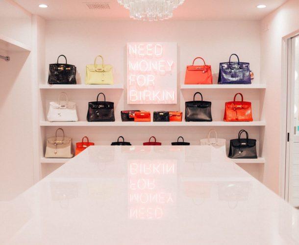 O closet – de Birkins! – da Kris Jenner