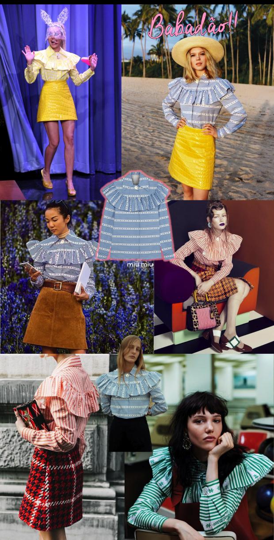 Blusa babados moda tendência