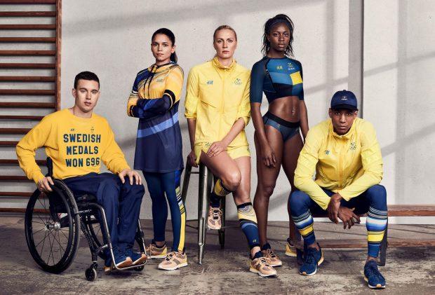 Uniforme das Olimpíadas - Suécia