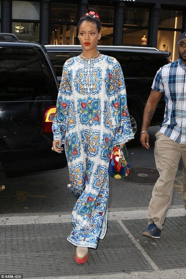 rihanna floral dress