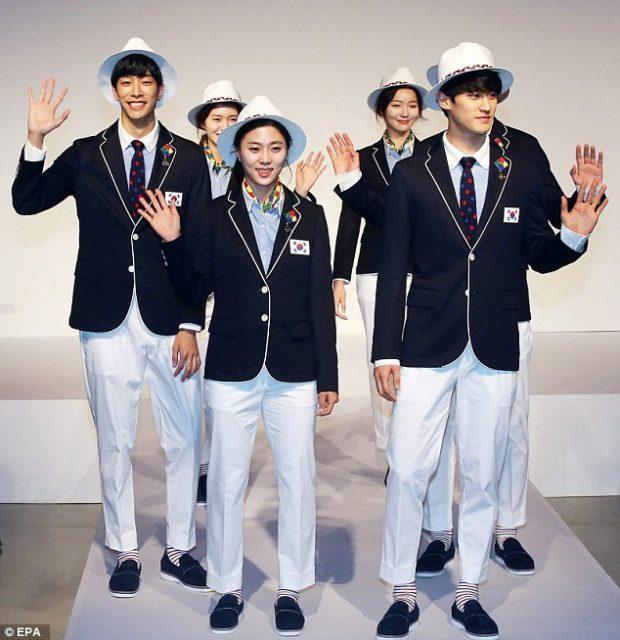 Uniforme das Olimpíadas - Coréia do Sul