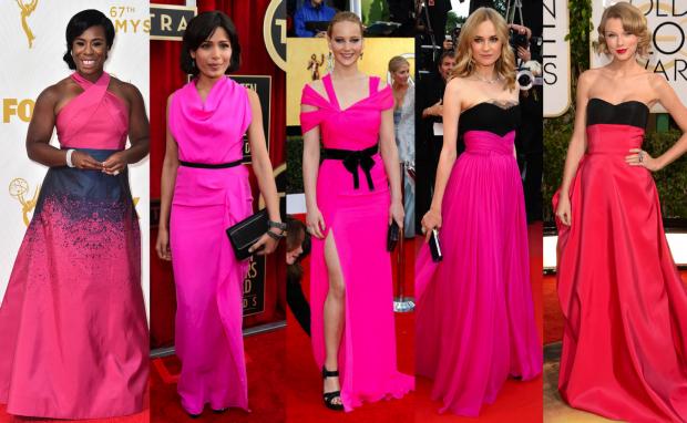 vestido de festa rosa preto