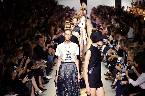 PARIS, FRANCE – SEPTEMBER 30:  Models walk the runway at the Dior Spring Summer 2017 fashion show during Paris Fashion Week on September 30, 2016 in Paris, France.  (Photo by Catwalking/Getty Images)