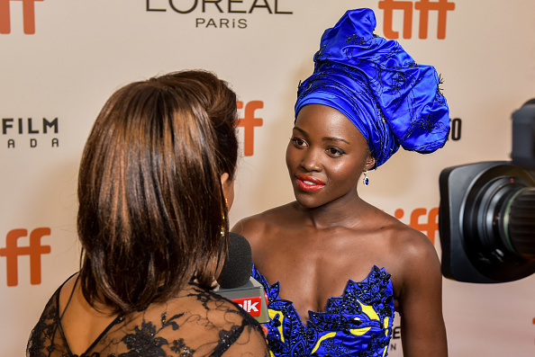 TORONTO, ON – SEPTEMBER 10:  Actress Lupita Nyong'o attends the 'Queen of Katwe' premiere during the 2016 Toronto International Film Festival at the Roy Thomson Hall on September 10, 2016 in Toronto, Canada.  (Photo by Dominik Magdziak Photography/Getty Images)