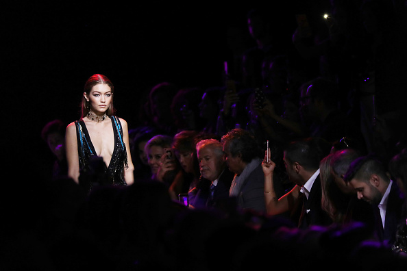 PARIS, FRANCE – OCTOBER 01:  Gigi Hadid walks the runway during the Elie Saab show as part of the Paris Fashion Week Womenswear Spring/Summer 2017  on October 1, 2016 in Paris, France.  (Photo by Antonio de Moraes Barros Filho/WireImage)