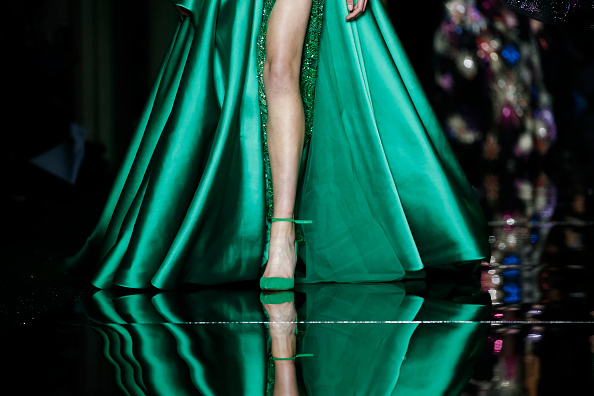 PARIS, FRANCE – JANUARY 25:  A model walks the runway during the Zuhair Murad Spring Summer 2017 show as part of Paris Fashion Week on January 25, 2017 in Paris, France.  (Photo by Richard Bord/Getty Images)