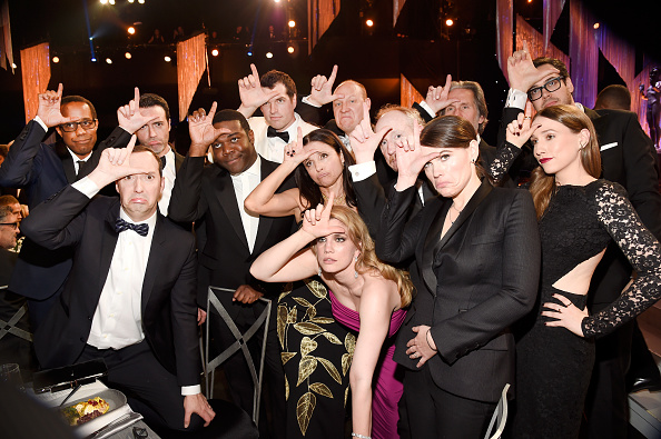 LOS ANGELES, CA – JANUARY 29:  The cast of 'Veep' poses during The 23rd Annual Screen Actors Guild Awards at The Shrine Auditorium on January 29, 2017 in Los Angeles, California. 26592_011  (Photo by Kevin Mazur/Getty Images for TNT)