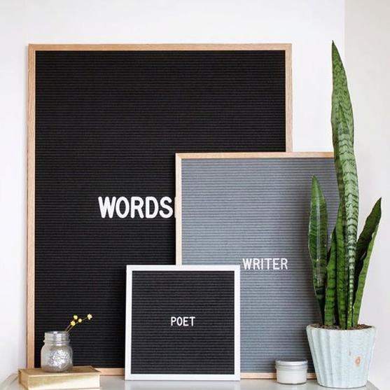 letter board room