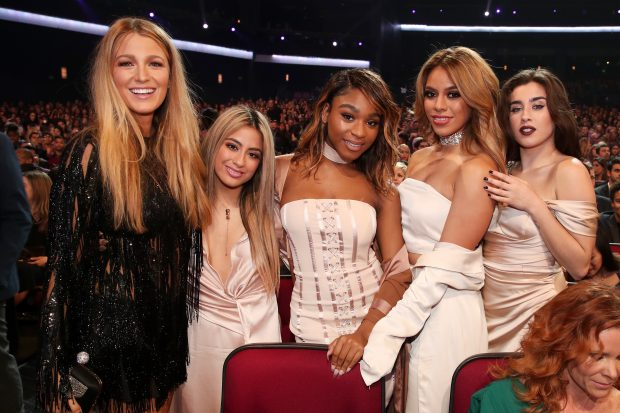 LOS ANGELES, CA – JANUARY 18:  (L-R) Actress Blake Lively and recording artists Ally Brooke, Normani Kordei, Dinah Jane, and Lauren Jauregui of music group Fifth Harmony attend the People's Choice Awards 2017 at Microsoft Theater on January 18, 2017 in Los Angeles, California.  (Photo by Christopher Polk/Getty Images for People's Choice Awards)