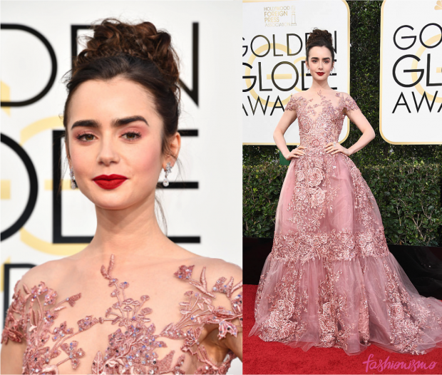 golden-globes-lily-collins