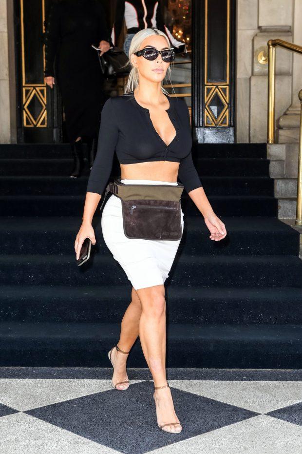 Os Looks da Kim Kardashian na NYFW - Fashionismo