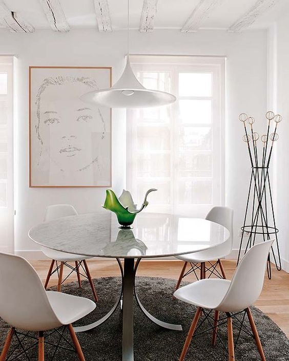 Mesa redonda decoração