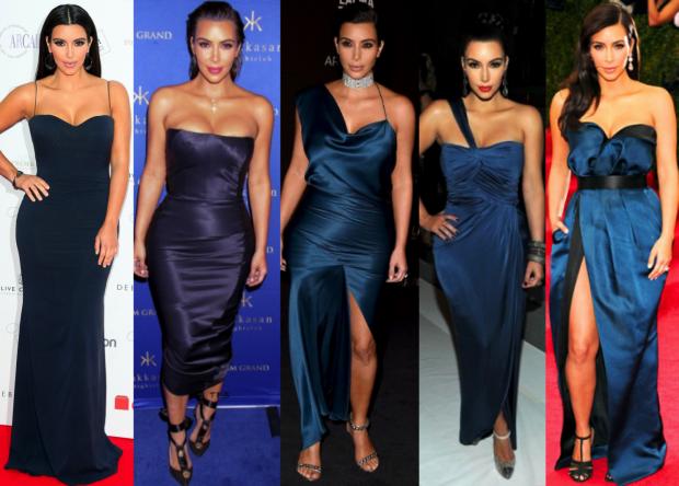 Look vestido de festa azul royal