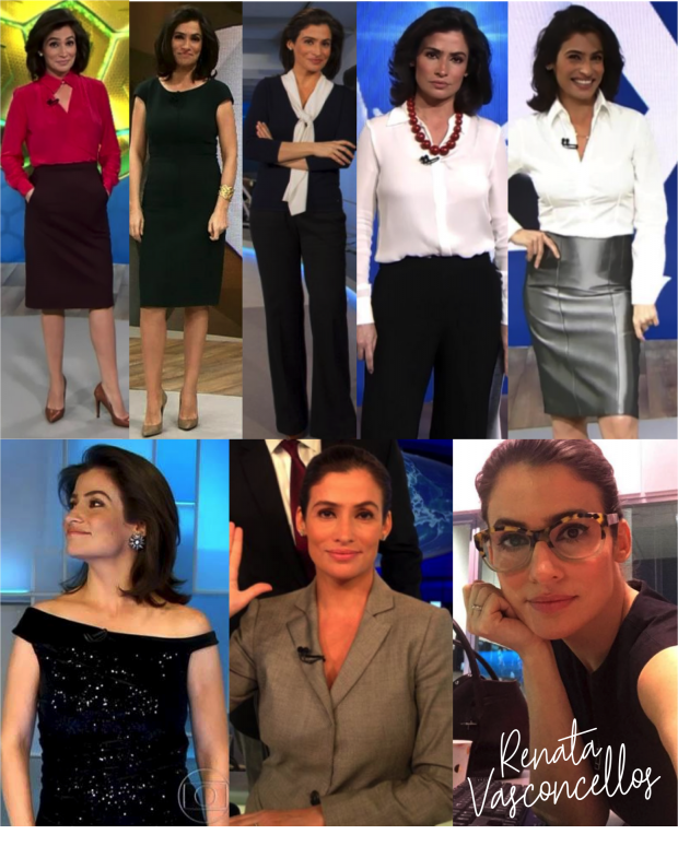 Looks Renata Vasconcellos