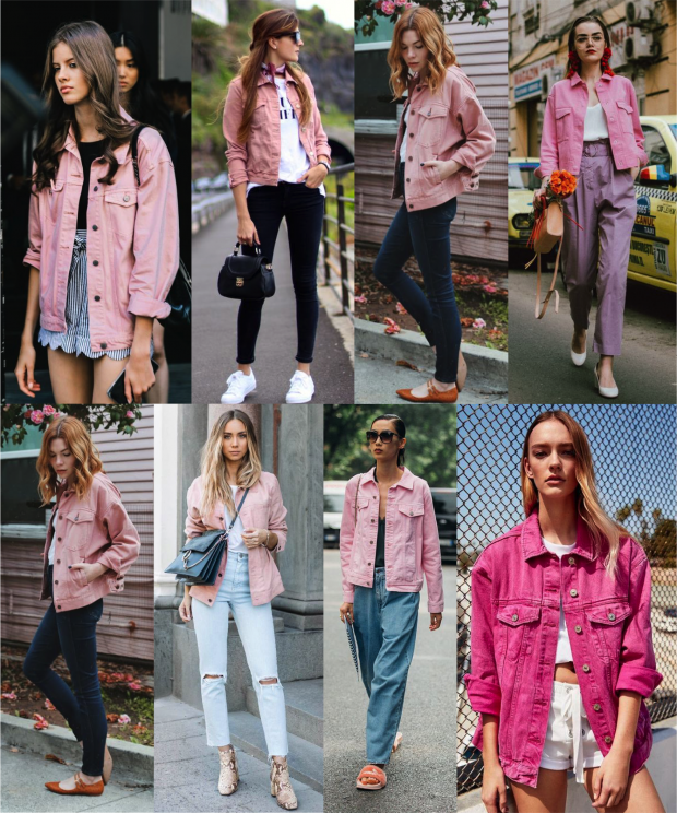 00bcdfed79 Desejando fortemente  jaqueta jeans rosa - Fashionismo