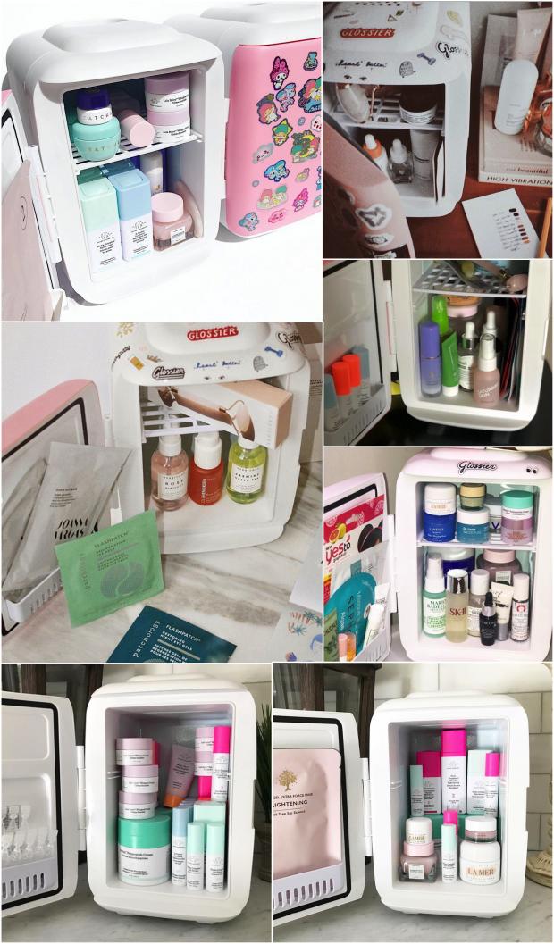 geladeira produtos de beleza
