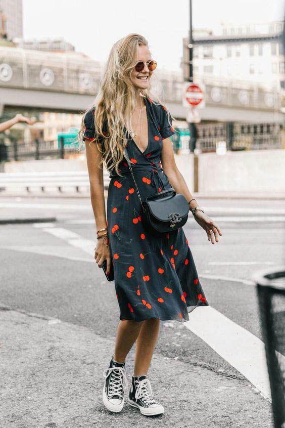 15 Looks Incríveis Com Vestido E Tênis Fashionismo