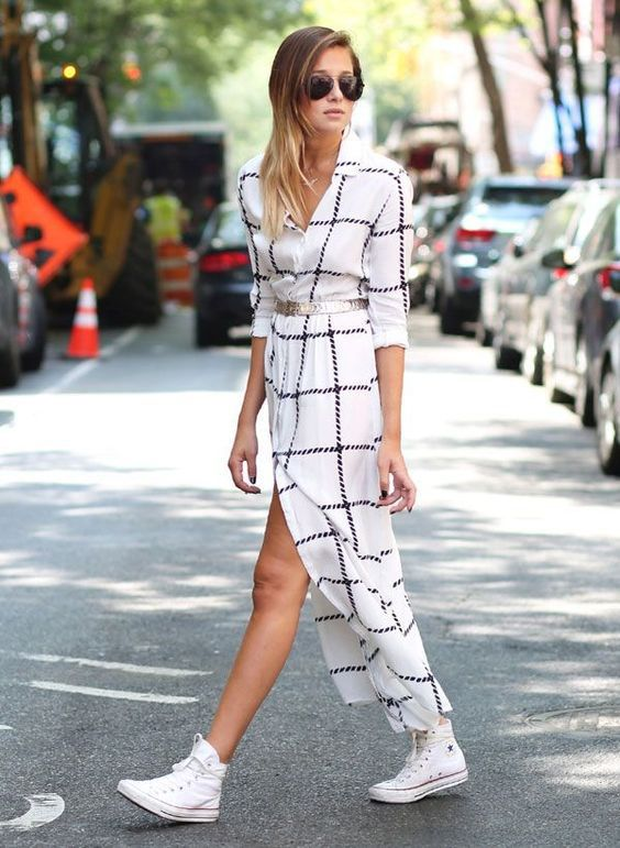 vestido tênis