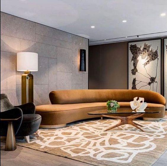 sofa oval redondo