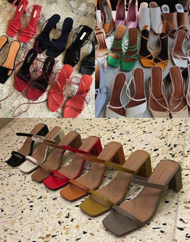 sandália quadrada