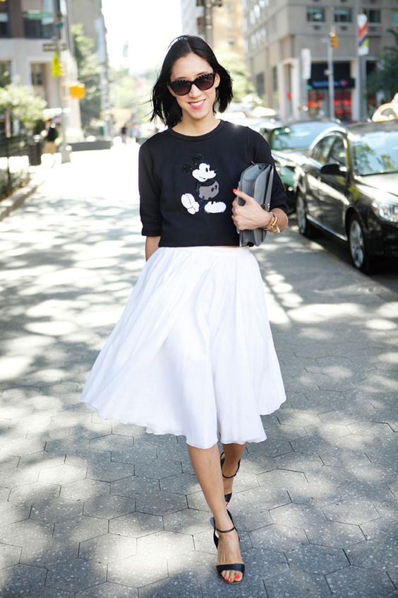 Mickey look blusa estilo
